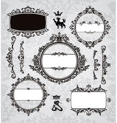 frames and vintage design elements vector image vector image