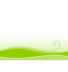 green background with swirl shape vector image