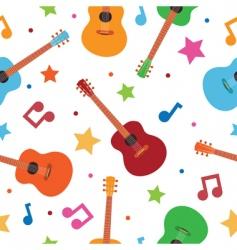 seamless guitars vector image vector image