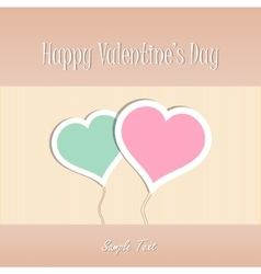 Two Heart shapes background Valentines day vector image