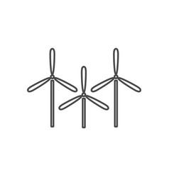 wind energy thin line icon windmills eco energy vector image