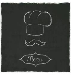 menu on old black board vector image vector image