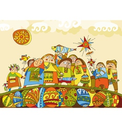 People Fair vector image vector image