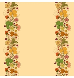 seamless doodle border frame of flowers and vector image vector image