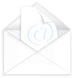 White envelope and watermark paper vector image vector image