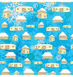 winter country houses vector image