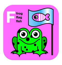 Abc frog flag fish vector