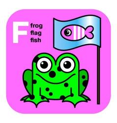 ABC frog flag fish vector image