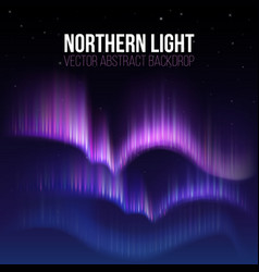 arctic aurora northern lights in polaris alaska vector image