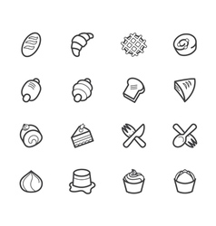 Bakery popular icon set on white background vector