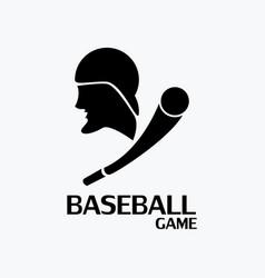 Baseball game logo vector