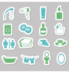 Bathroom stickers vector