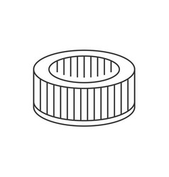 car air filter linear icon on white background vector image
