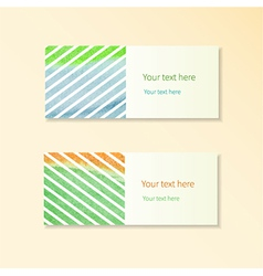 Cards with stripes vector image