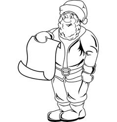 Cartoon Santa Claus Blank List Page vector