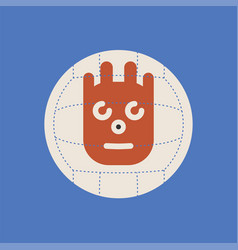 Cast away movie icon wilson ball sign vector