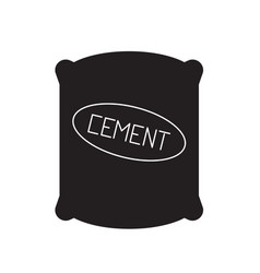 cement sack black concept icon cement sack vector image