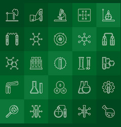 chemistry outline concept icons or design vector image