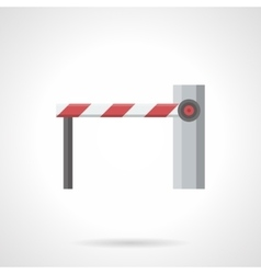Closed barrier flat color icon vector image