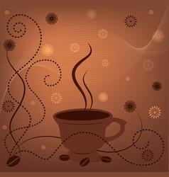 coffee fon vector image