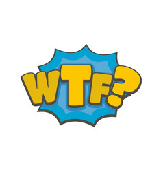 Comic boom wtf icon flat style vector