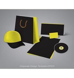 corporate design template vector image
