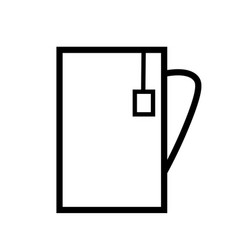Cup of tea teabag icon vector