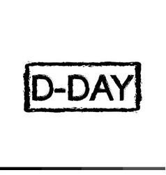 D-day anniversary design vector