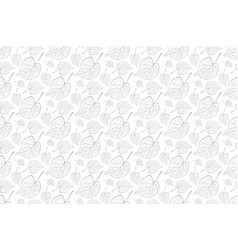 decorative ornamental seamless leaf pattern vector image
