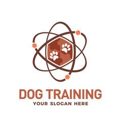 Dog training technology logo design vector