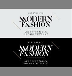 elegant alphabet letters font set typography vector image