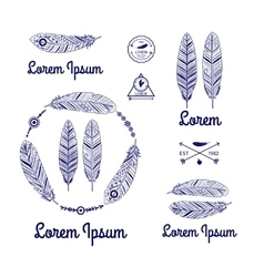 Ethnic feathers logo vector