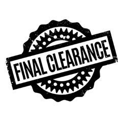 Final Clearance rubber stamp vector