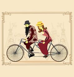 flat happy mature man and woman vector image