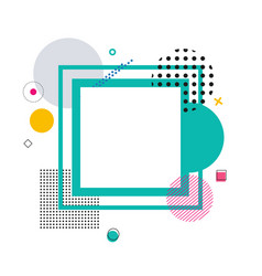 Frame and geometric pattern vector
