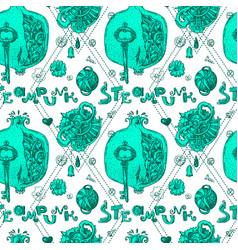 garnet steampunk style vector image