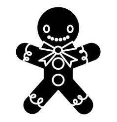 gingerman bakery icon black vector image