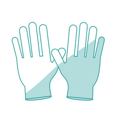 Gloves healthcare related icon image vector