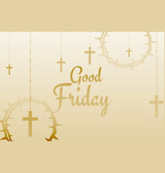 Good friday background with hanging crosses vector