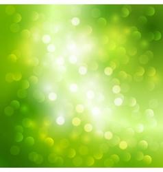 Green bokeh light background vector