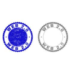grunge web 20 scratched stamp seals vector image