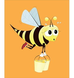hard working bee vector image