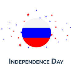 Independence day of russia patriotic banner vector