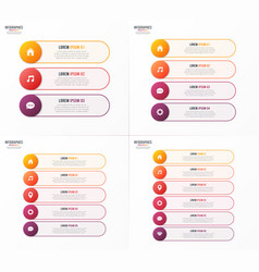 infographic templates with 3 4 5 6 options vector image