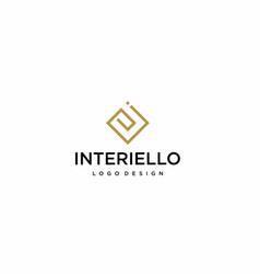 interior logo vector image
