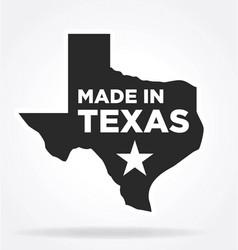 Made in texas logo vector