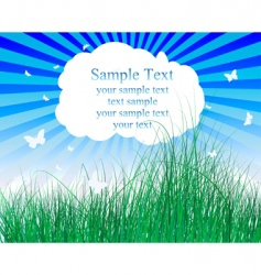 meadow illustration vector image