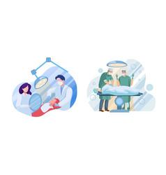 medical services flat set vector image
