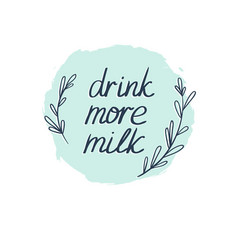 Milk graphic design with stylish text background vector
