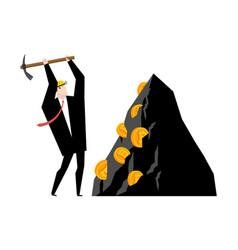 Mining bitcoin minir extraction crypto currency vector